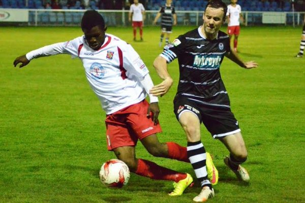 Murtagh playing against Bangor City