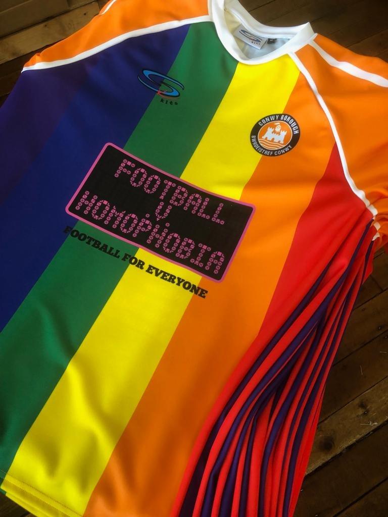 Conwy announce special shirts for  Football v Homophobia  campaign 4e55f05a4